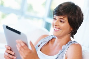 Tablets are becoming increasingly popular for shopping